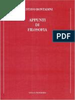 BONTADINI Appunti Di Filosofia