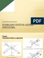 Teoría Estabilidad Estática Lateral
