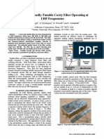 Low-loss, Broadly-tunable Cavity Filter Operating at UHF Frequencies
