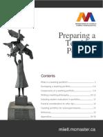 Preparing a Teaching Portfolio Guide 10 2015