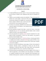 Lista de Matemática Financeira