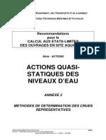 Ouvrage en Site Aquatique_Actions Quasistatiques Des Niveaux d'Eau