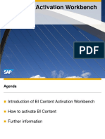 Overview BI Content Activation Workbench Copy