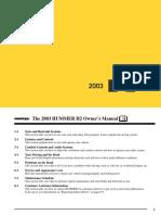 2003 Hummer Manual en CA
