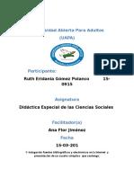 Tarea 1 Didactica Especial de La Ciencia Socieles