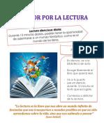 Afiche Amor Por La Lectura