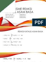 Mekanisme Reaksi Katalis Asam Basa