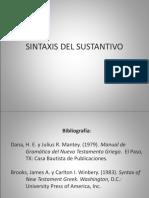 Sintaxis Del Sustantivo Edited