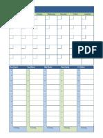 Format Jadwal Mingguan