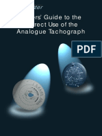 Drivers' Guide to Use of the Analogue Tachograph
