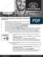 Centurion Systems- Memory Module User Guide