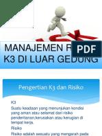 manajemen risiko k3 di luar gedung