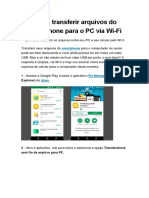 Como Transferir Arquivos Do Smartphone Para o PC via Wi