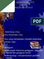 Ilmu Kes Jiwa Program Pelayanan Jiwa Tri Bina Jiwa