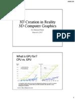3-08-2018 3D Computer Graphics