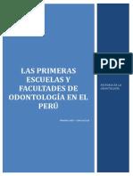 Primeras Escuelas y Facultades Del Peru