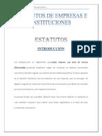 Estatutos de Empresas e Instituciones