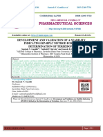 DEVELOPMENT AND VALIDATION OF A STABILITY INDICATING RP-HPLC METHOD FOR THE DETERMINATION OF TERIZIDONE