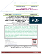 A VALIDATED STABILITY-INDICATING AND LC-MS COMPATIBLE METHOD FOR THE DETERMINATION OF RELATED SUBSTANCES AND ASSAY OF MONTELUKAST SODIUM AND LEVOCETIRIZINE HCL BY U-HPLC IN TABLET DOSAGE FORM