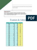 Examen de Admis