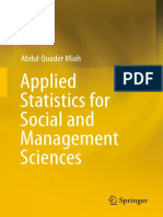 Applied Statistics for Social and Management Sciences-Springer Singapore (2016)
