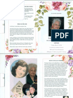 Irene G. Fimbres Memorial Pamplet