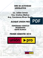 Concejo Deliberante de Bahía Blanca - Informe de actividad legislativa