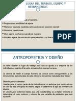Tema 6 - Diseño Del Lugar de Trabajo, Equipos y Herramientas