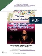 TEATRO DE LA SENSACIÓN-Taller de Narracion de Historias-contar Con El Otro-Abril 018
