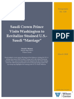 "Saudi Crown Prince Visits Washington to Revitalize Strained U.S.-Saudi ""Marriage"""