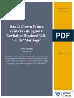 """Saudi Crown Prince Visits Washington to Revitalize Strained U.S.-Saudi """"Marriage"""""""