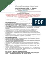 A PMP Resume Sample