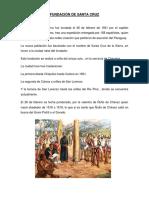 Fundación de Santa Cruz