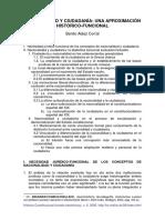 Nacionalidad y Ciudadanía Una Aproximacion Historico Funcional Benito Alaez Corral