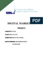 Digital Marketing Project - PATARI