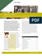 Factsheet Economics BehaviouralEconomics