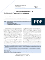 Alteration of Gut Microbiota and Efficacy of Probiotics in Functional Constipation