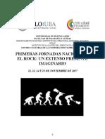 Programa Jornadas Rock 2017