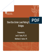 Steel Box Girder Load Rating for ODOT