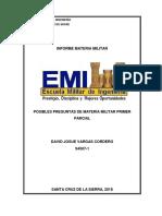 Informe Materia Militar Primer Parcial