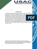 Breve Historia de La Universidad San Carlos de Guatemala Usac