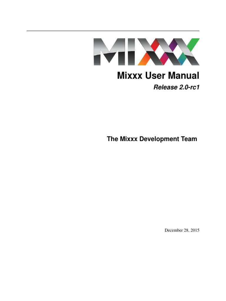 Mixxx Manual | Disc Jockey | Finder (Software)