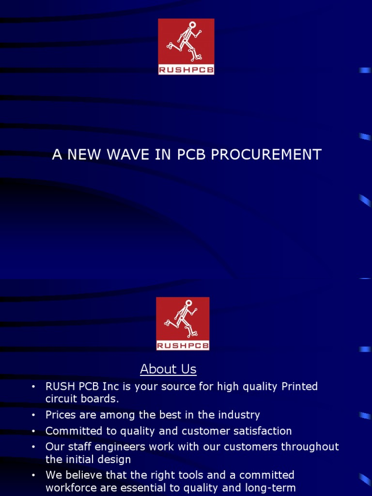Rush Pcb Inc Presentation Printed Circuit Board Materials Manufacturer Buried Blind Via For Sale
