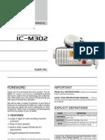 Icom IC-M302 Instruction Manual
