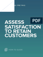 Assess Satisfaction to Retain Customers