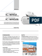 Icom IC-M402 Instruction Manual