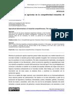 Baudino-Las Determinaciones Agrícolas de La Competitividad Industrial.