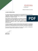 Carta Recomendacion Estandar