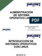 SESION I sistemas operativos linux