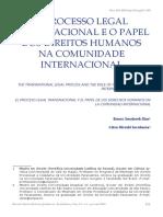 O PROCESSO LEGAL TRANSNACIONAL E O PAPEL DOS DIREITOS HUMANOS NA COMUNIDADE INTERNACIONAL